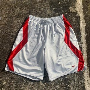 Vintage Nike Silver Red Shorts